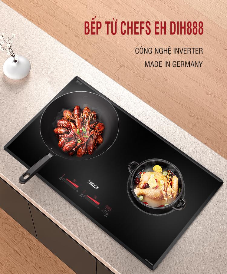 Bếp từ Chefs EH DIH888 vẫn đang giảm 4,7 Triệu, nhanh tay sắm Tết thôi