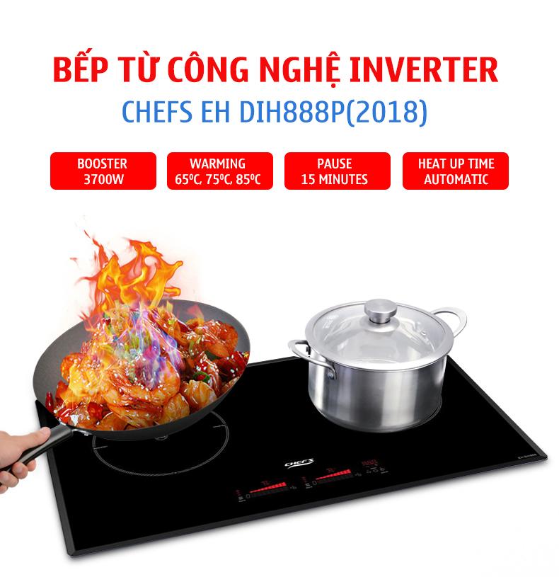Công nghệ inverter của bếp từ Chefs EH DIH888P(2018)