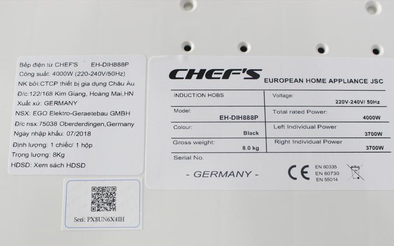 Đại lý nào bán bếp Chefs uy tín?