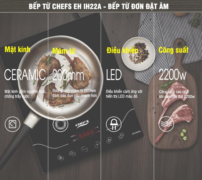 Thông tin về bếp từ chefs EH IH22A