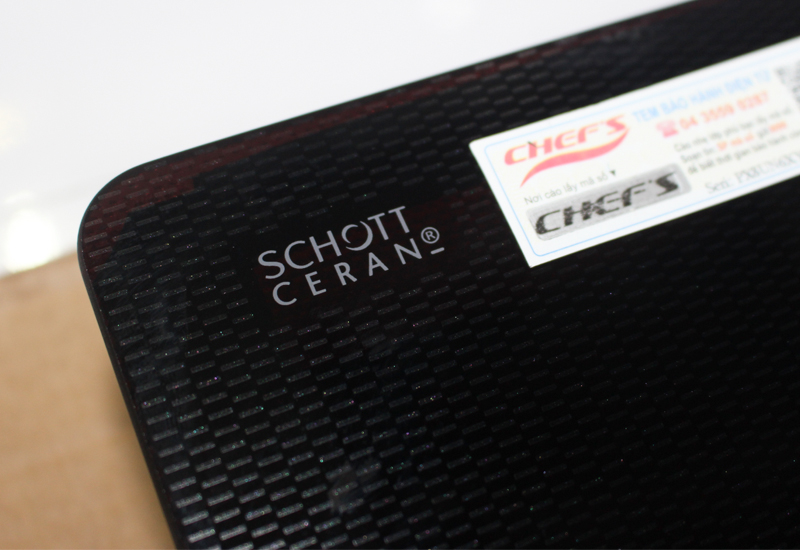mặt kính schott ceran trên bếp từ chefs eh ih534