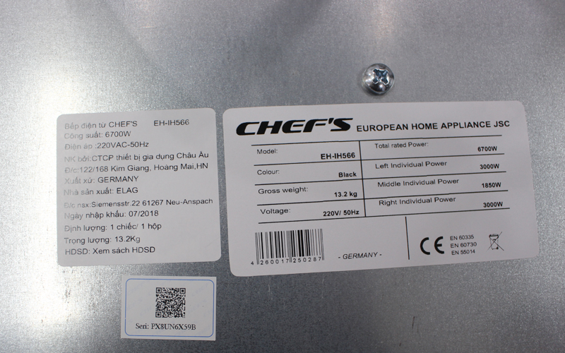 Bep tu chefs eh ih566 - made in Germany