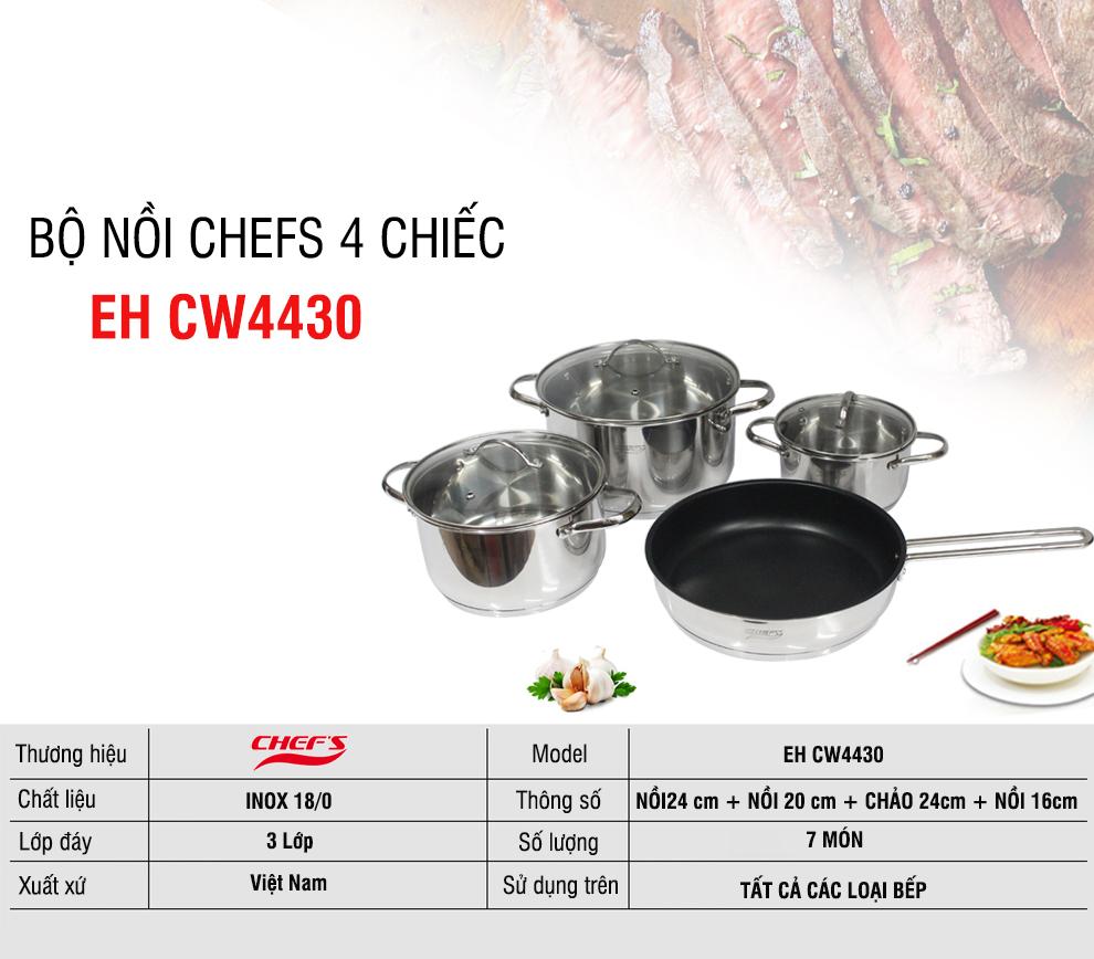 Thông tin bộ nồi Chefs EH CW4430