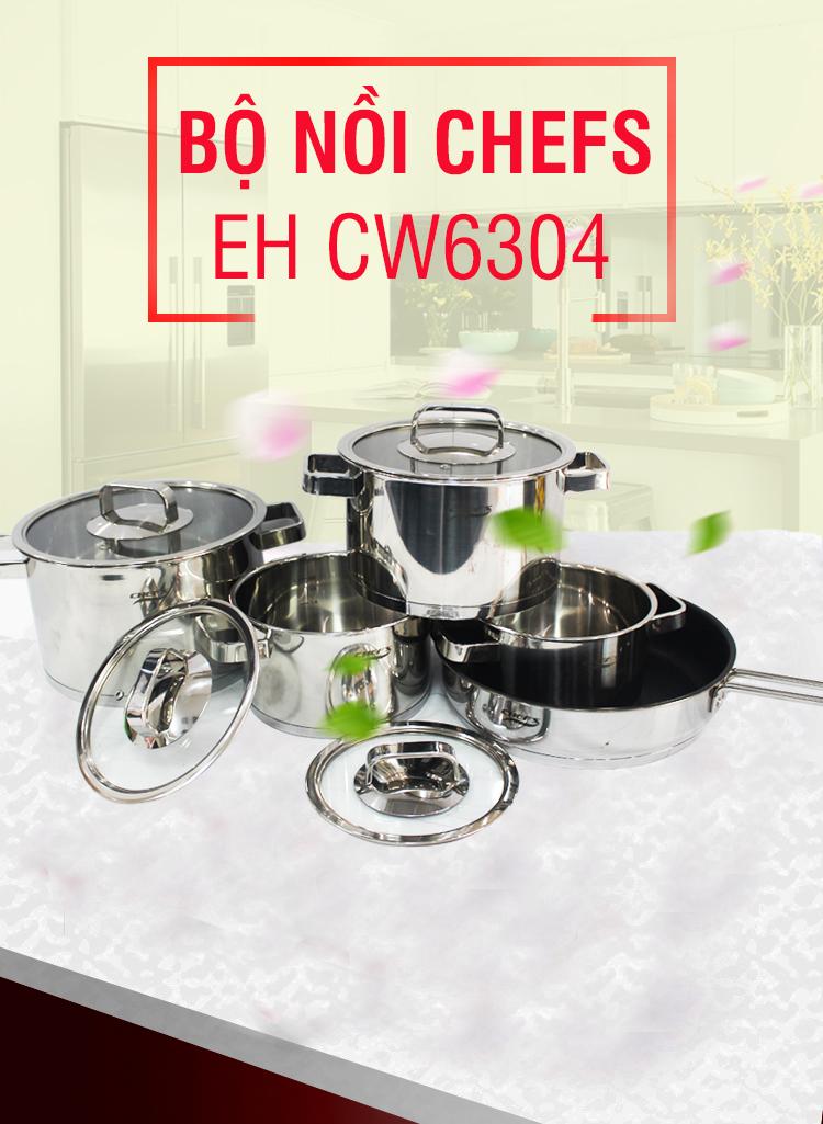 Giới thiệu bộ nồi Chefs EH CW6304 mới