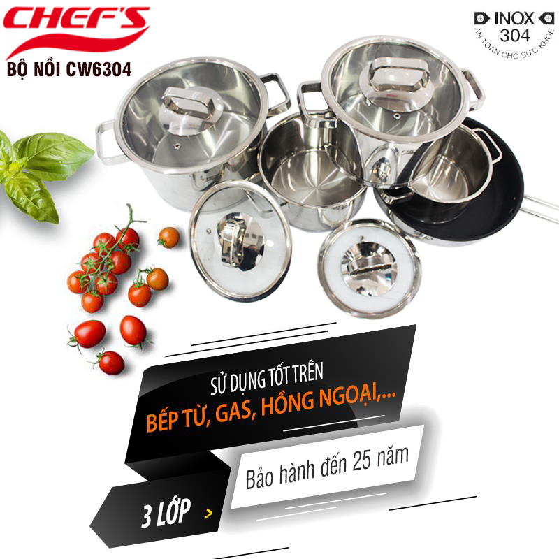 Bộ nồi Chefs EH CW6304 và những điều bạn chưa biết
