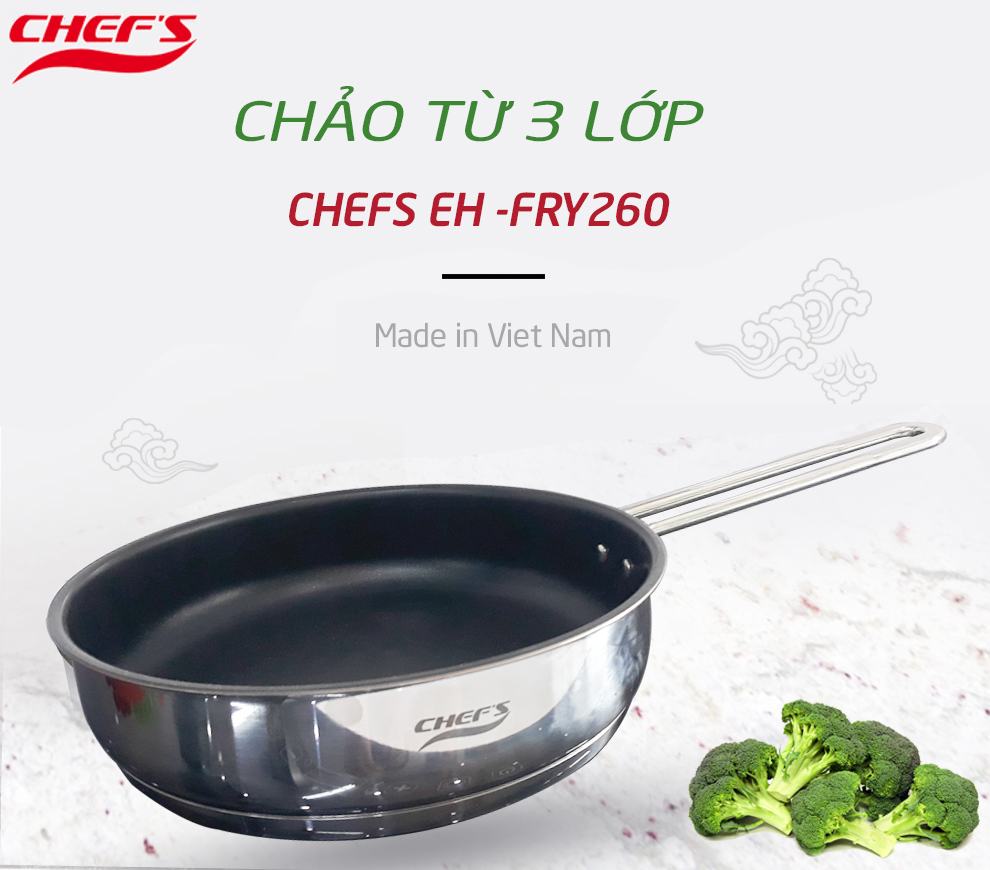 chảo từ chefs eh fry260