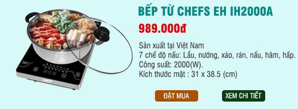 bếp từ chefs eh ih2000a giá hấp dẫn