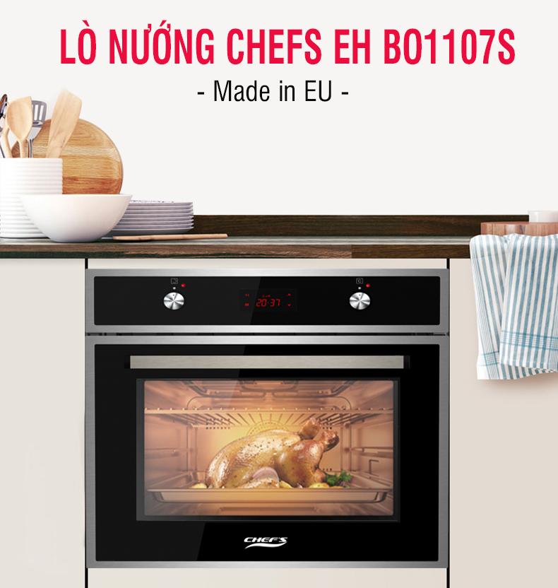Những điểm nhấn trên mẫu lò nướng Chefs chỉ có giá 8 triệu đồng