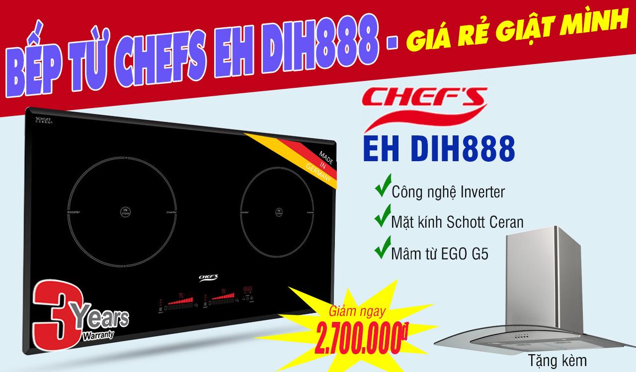 Quà tặng kèm bếp từ Chefs EH DIH888 sau khi giảm thêm 500k tiền mặt