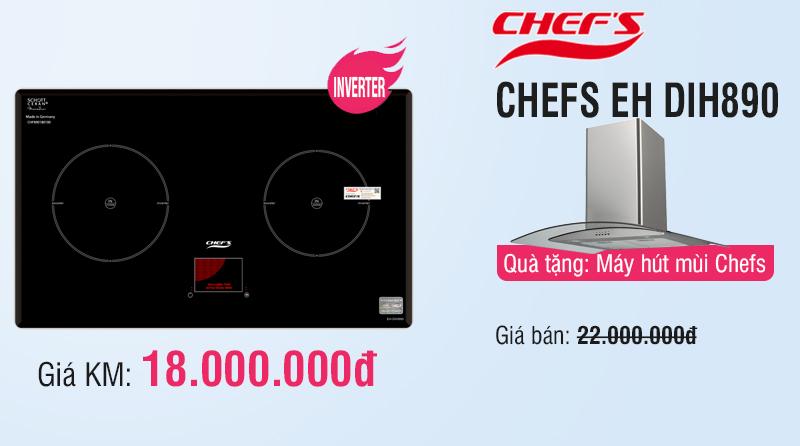 khuyến mãi bếp từ chefs inverter eh dih888