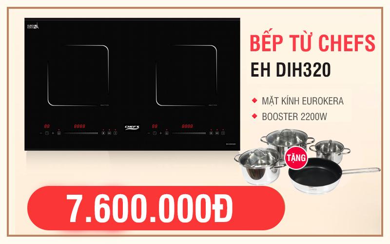 Bếp từ Chefs EH DIH320 giảm giá chỉ còn 7.6 triệu đồng