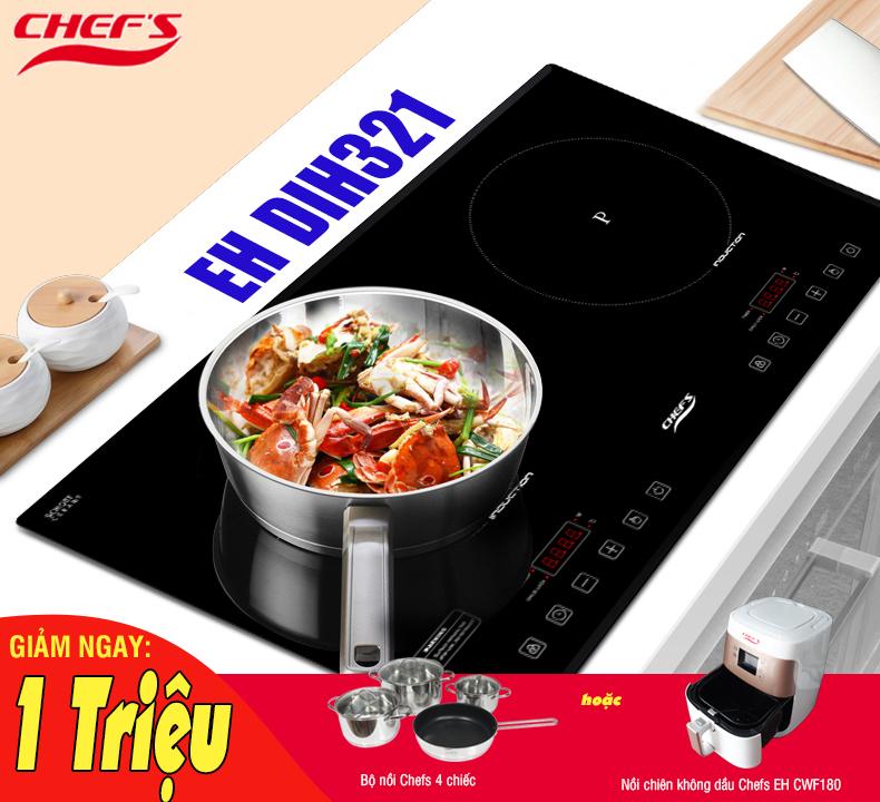 Bếp từ Chefs EH DIH321 giá cực rẻ, ưu đãi cực sốc