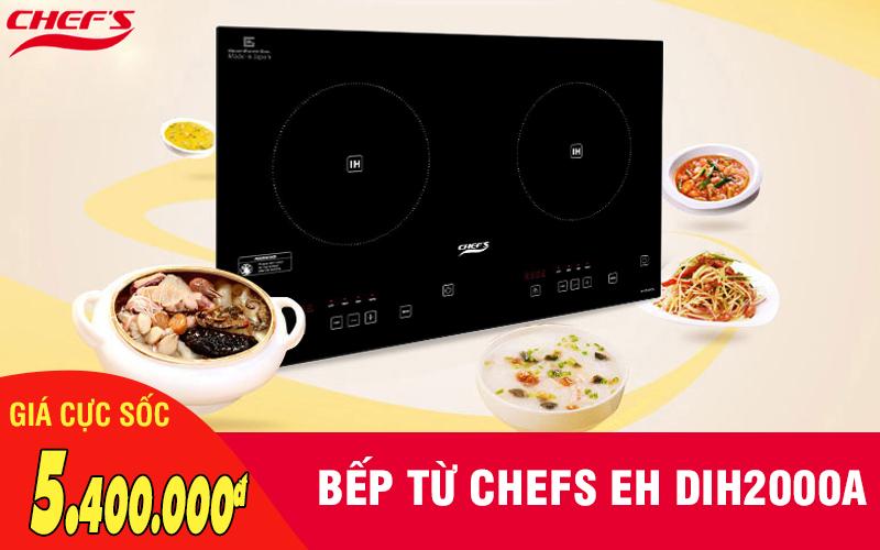 Bếp từ Chefs EH DIH2000A giá cực rẻ, ưu đãi cực sốc