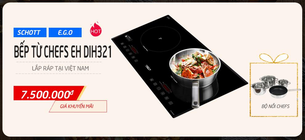 Vu Lan báo hiếu, bếp từ Chefs EH DIH321 giảm thêm 1.200.000Đ