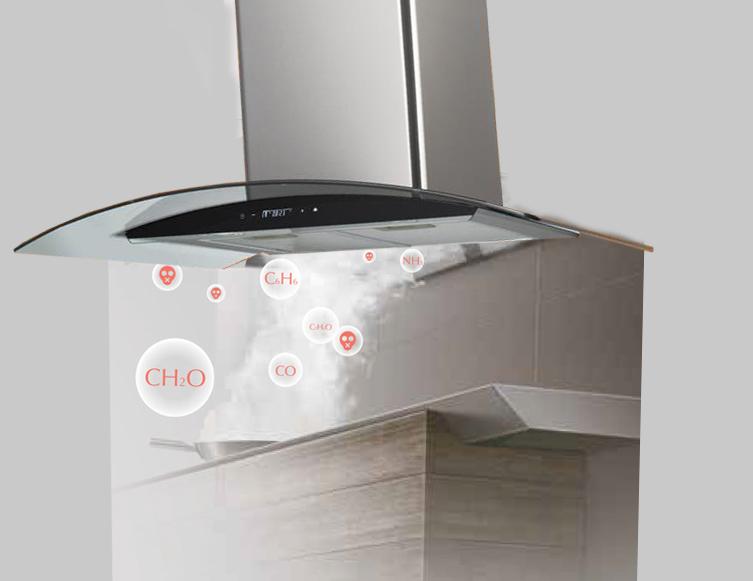 Hình ảnh minh họa công suất hút của máy hút mùi Chefs EH R501E7