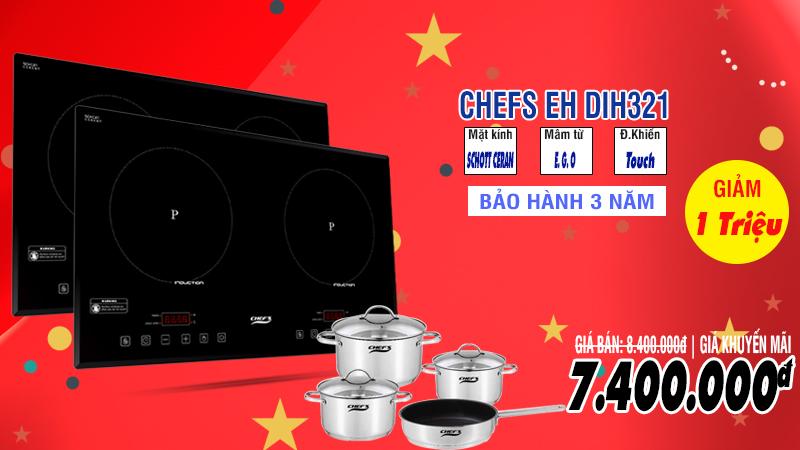 bếp từ chefs eh dih321 khuyến mãi