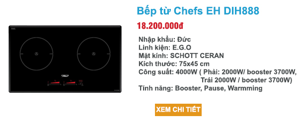 bếp từ chefs eh dih888 made in germany