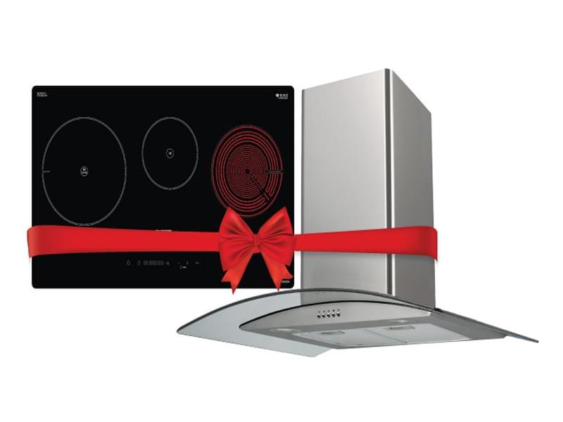 Combo bếp điện từ Chefs EH MIX534 & máy hút mùi Chefs EH R506E7