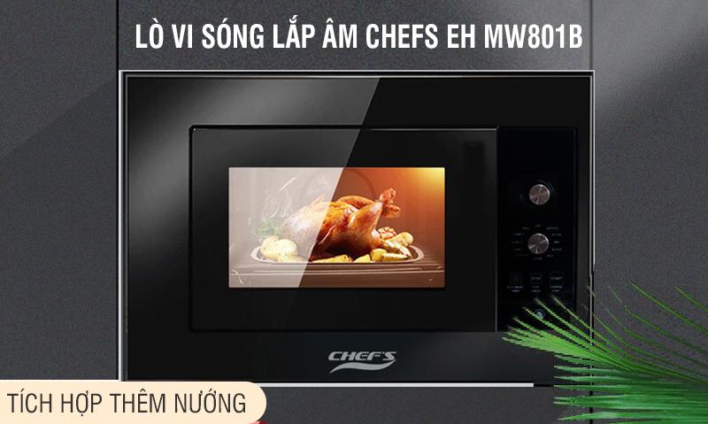 Lò vi sóng có nướng Chefs EH MW801B