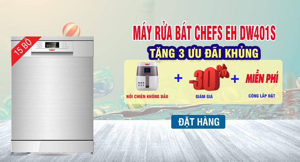 máy rửa bát chefs eh dw401s khuyến mãi