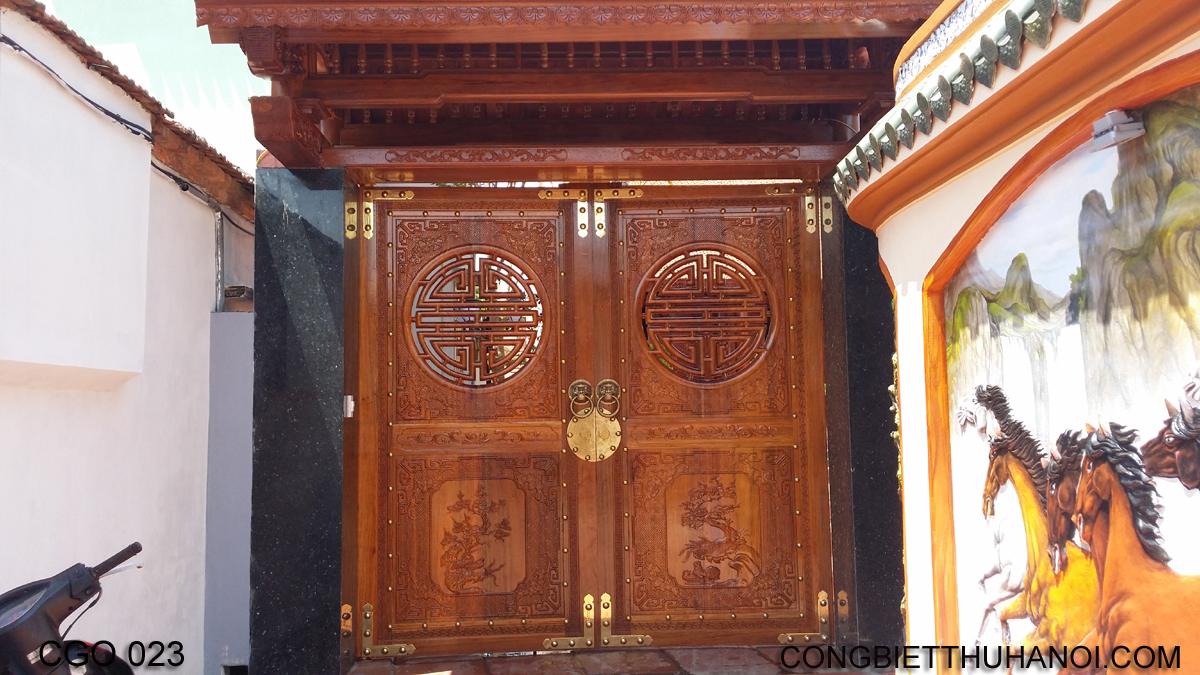 cổng gỗ đẹp Mẫu cổng gỗ CGO 023 cổng gỗ đẹp