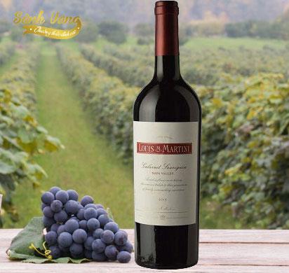 Chai rượu Vang Mỹ Louis Martini Cabernet Sauvignon Napa Valley nổi tiếng