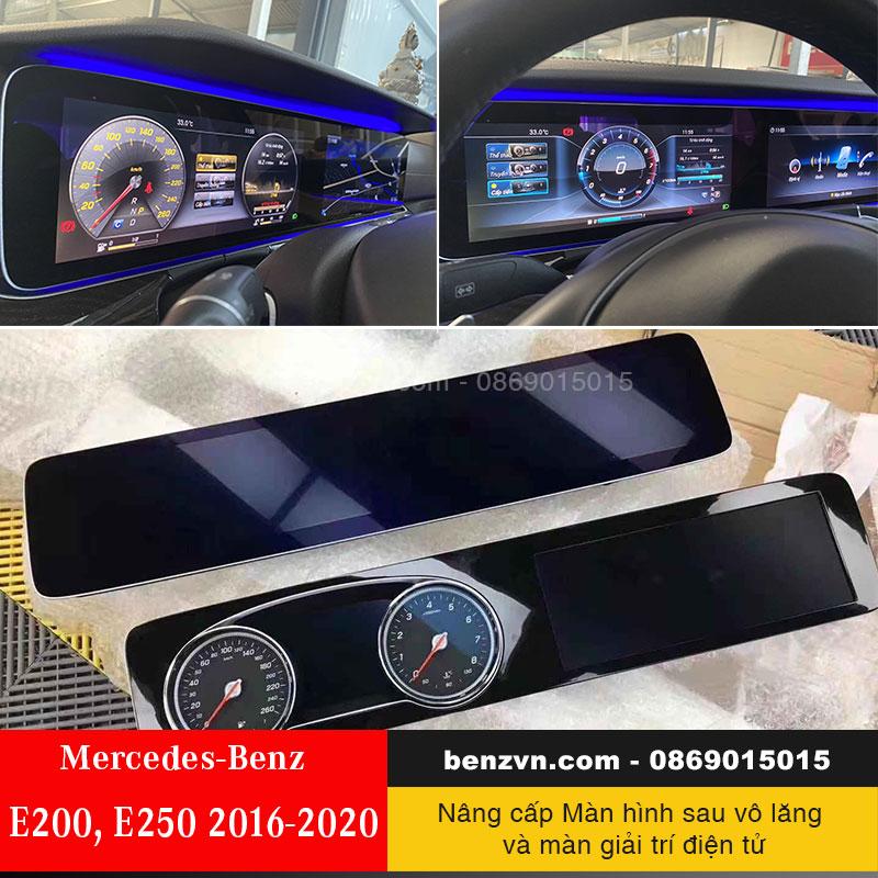 Nâng cấp màn hình LCD cho Mercedes-Benz E200, E250 ( 2016 -2020 )