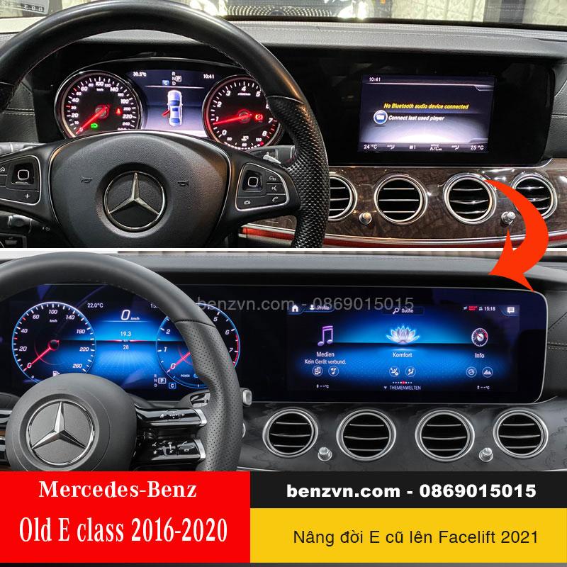 Nâng cấp màn hình cảm ứng MBUX cho E200, E250 và E300