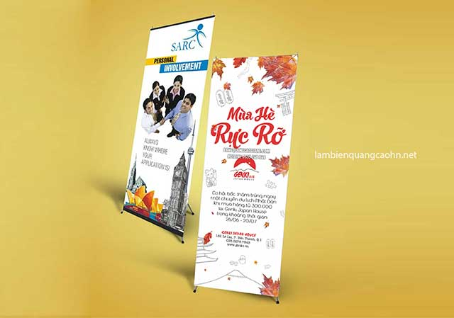 in standee, in giá chữ X, in giá cuốn, standee die cut, in decal PP, in giấy ảnh