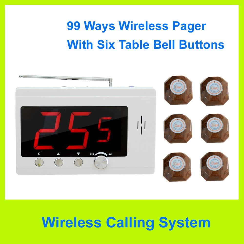 Hệ thống gọi phục vụ không dây 6 nút nhấn HT-GPV13