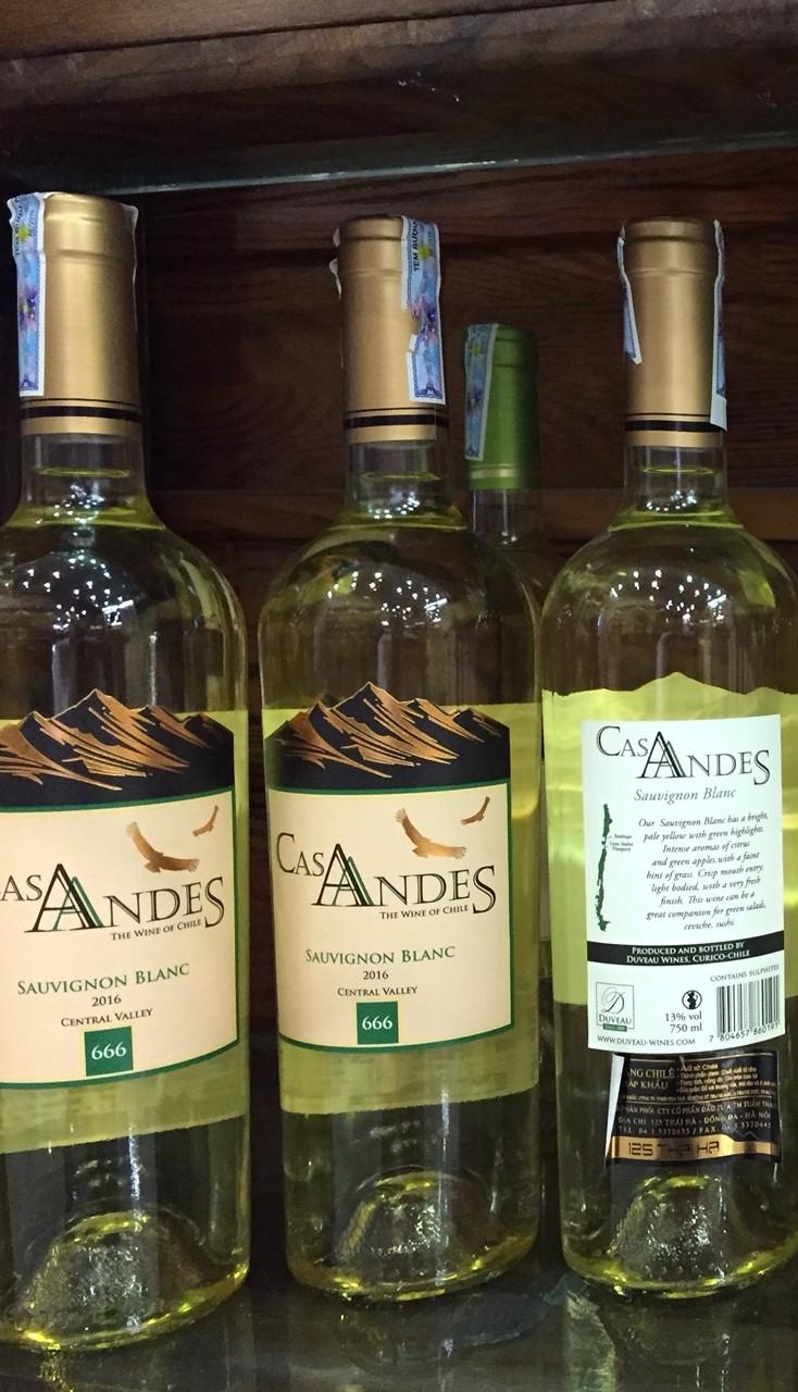Rượu Cas Andes Grand Reserve Sau Blanc