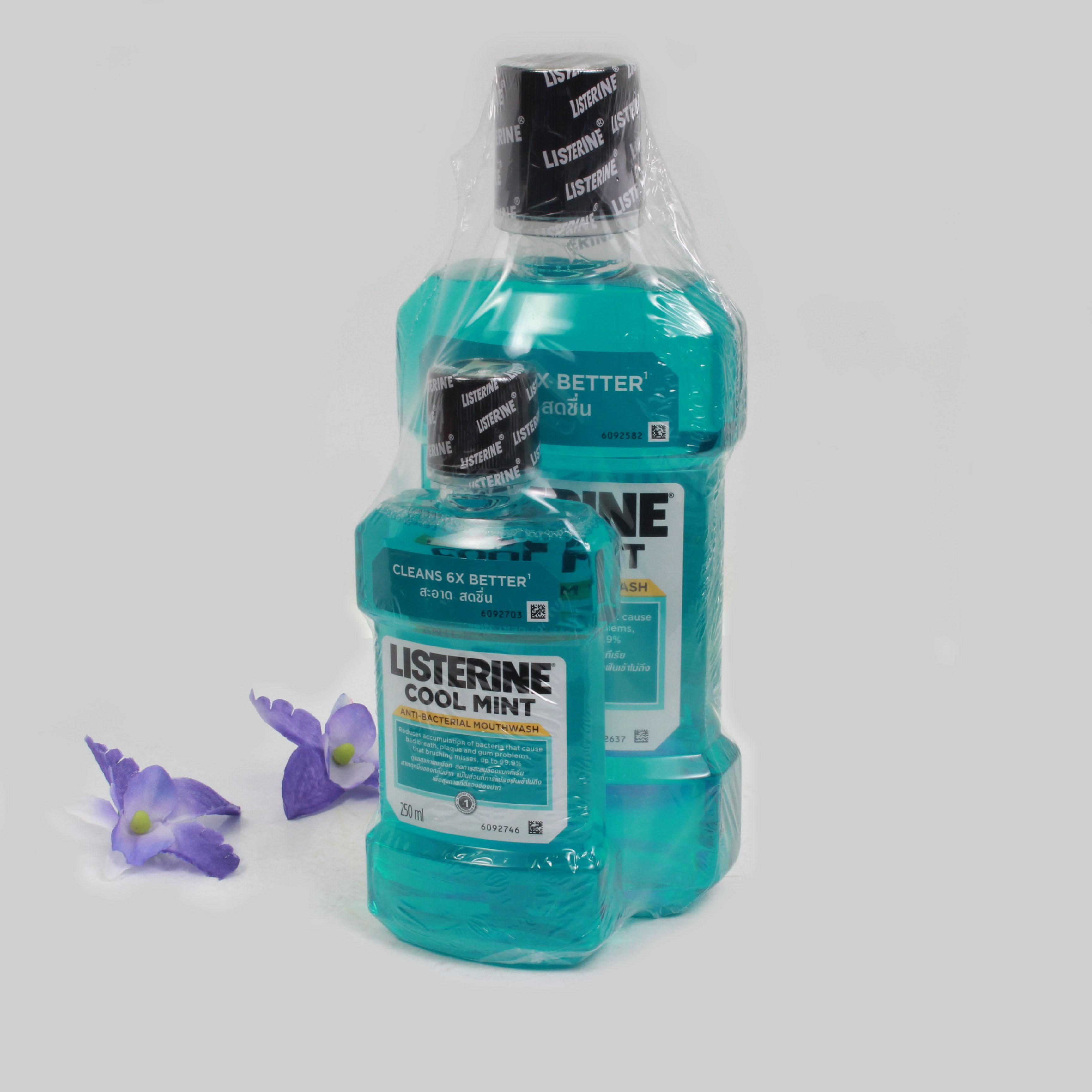 Súc miệng Listernine xanh bạc hà 750ml- kèm 250 ml bạc hà