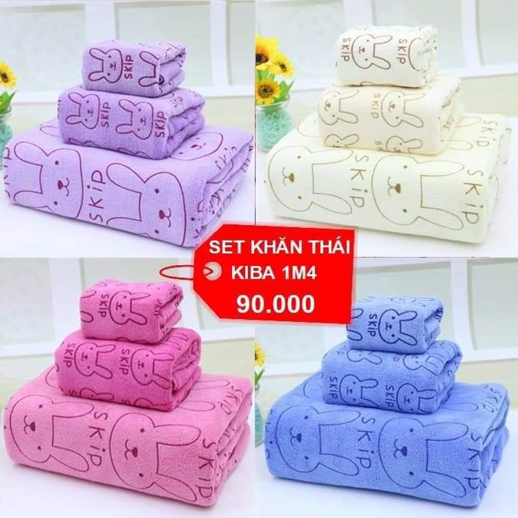 Set 3 khăn thái Kiba Thái Lan