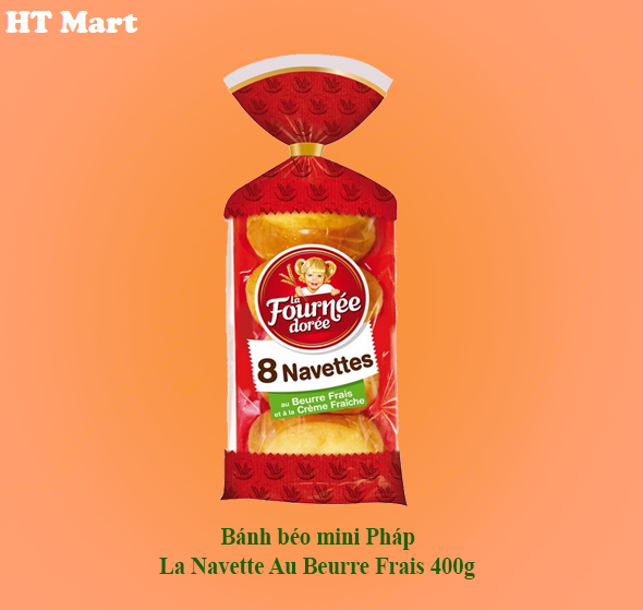 Bánh béo mini Pháp La Navette Au Beurre Frais 400g