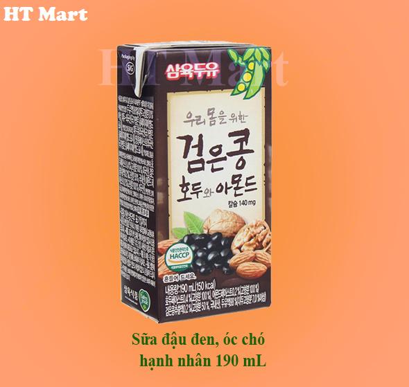 Sữa đậu đen óc chó hạnh nhân 190 mL/24 hộp