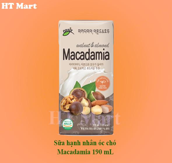 Sữa hạnh nhân óc chó Macadamia 190ml