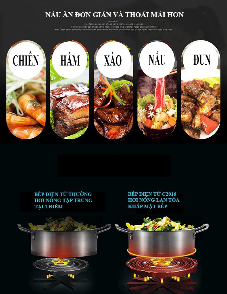 bàn ăn thông minh có bếp từ