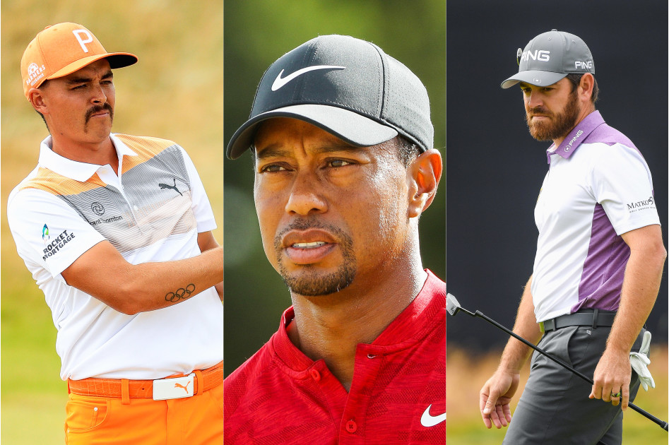 Rickie Fowler, Tiger Woods, Louis Oosthuizen