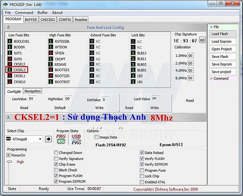 MẠCH NẠP ISP 89/AVR