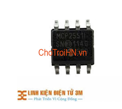IC CAN MCP2551 I/SN SOP-8