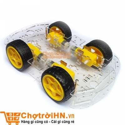 Khung Xe Robot 4 Bánh Chất Lượng Cao | Linh Kiện Điện Tử 3M