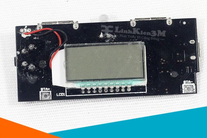 Mạch sạc pin dự phòng hiển thị màn hình LCD