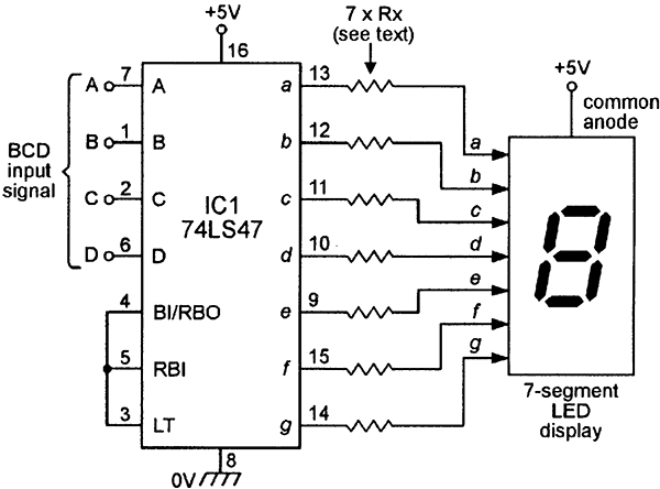 74ls47 Bcd To 7-segment Decoder  Driver Dip16