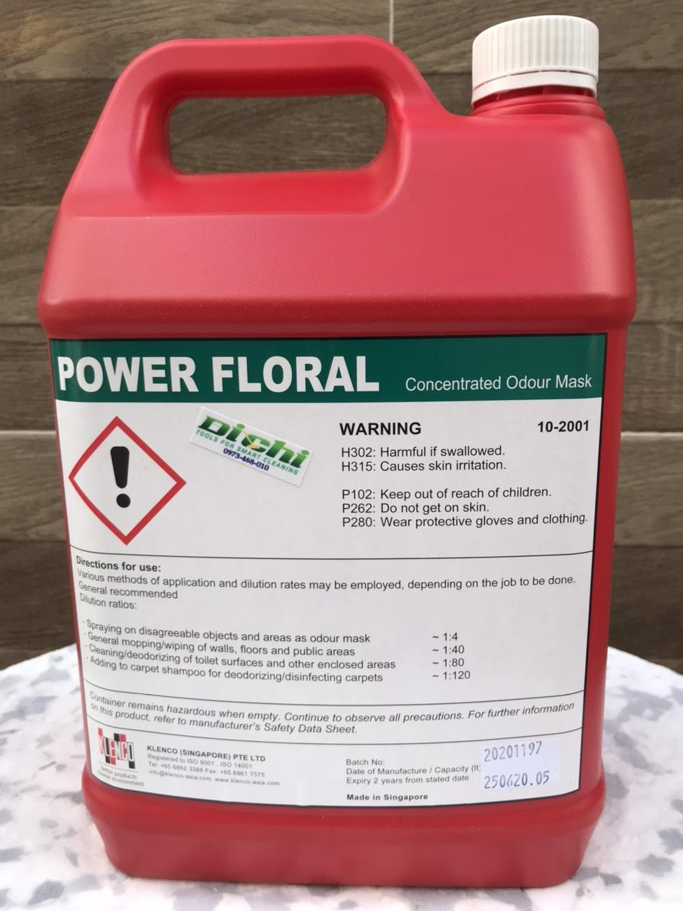 Nước lau sàn hương cỏ Power Floral