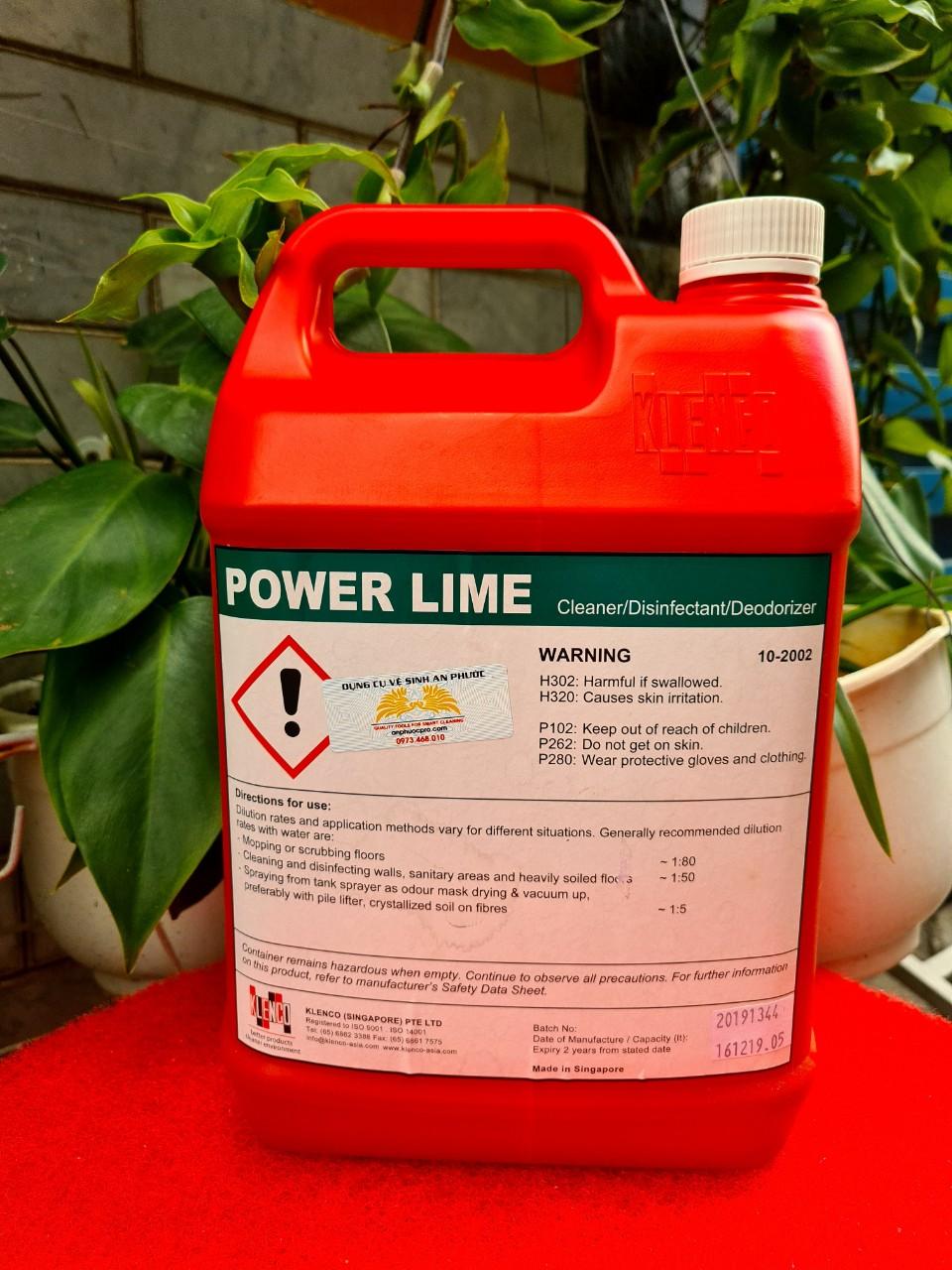 Nước lau sàn mùi bạc hà Power Lime