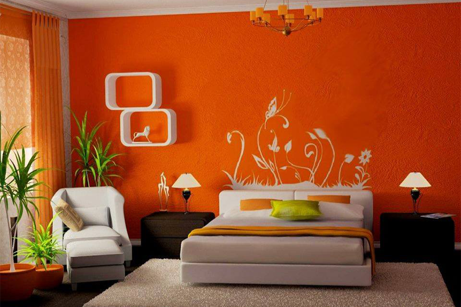 Thiết kế nội thất phòng ngủvới các gam màu ấn tượng