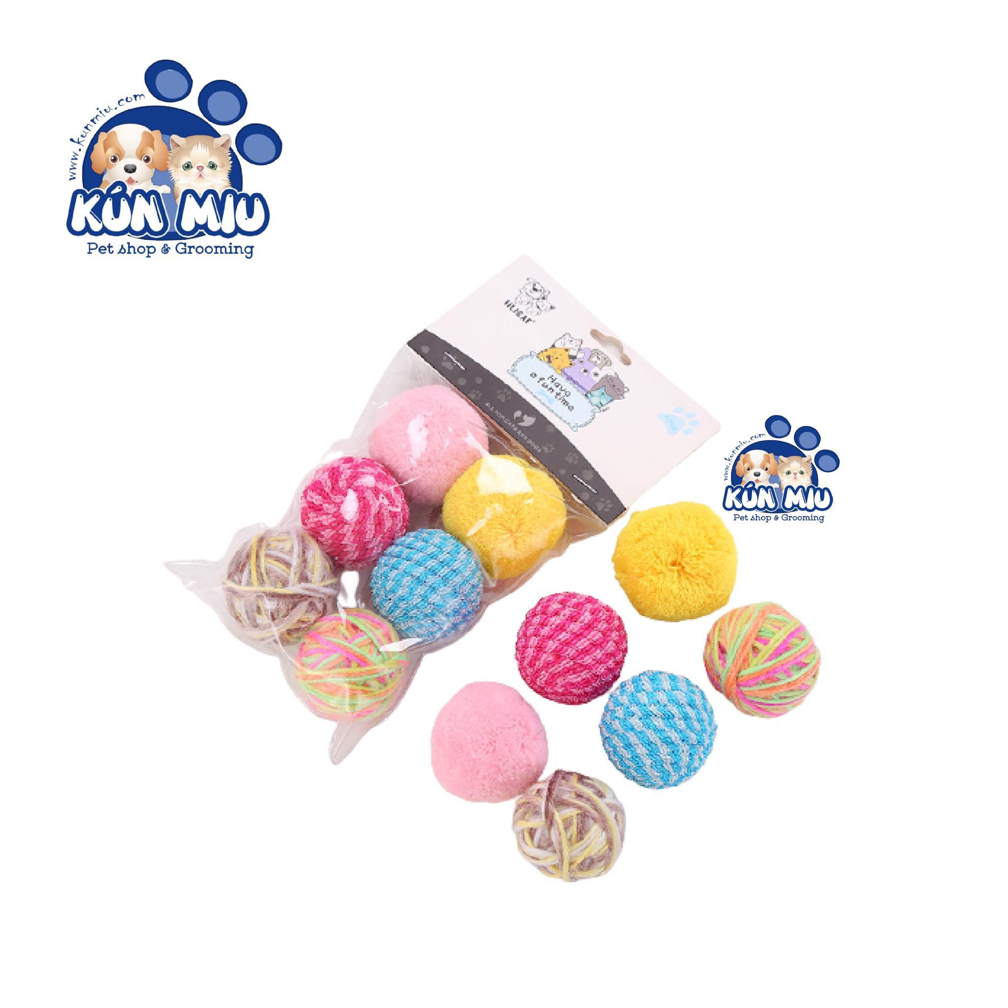 Set 6 bóng đồ chơi cho chó mèo Silicat