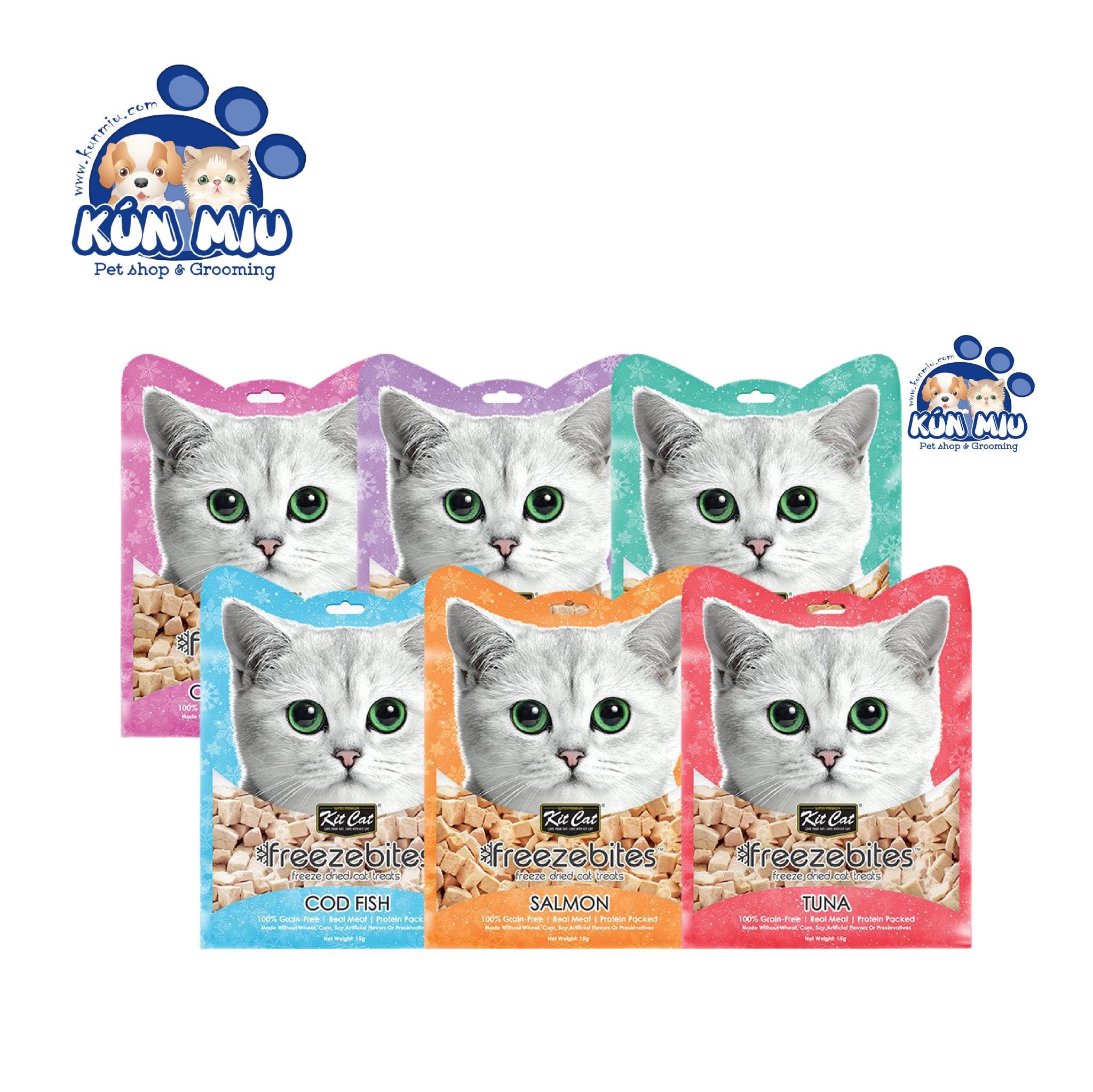 Thức ăn dinh dưỡng thịt đông khô cho mèo Snack Freeze Bites KitCat 15g