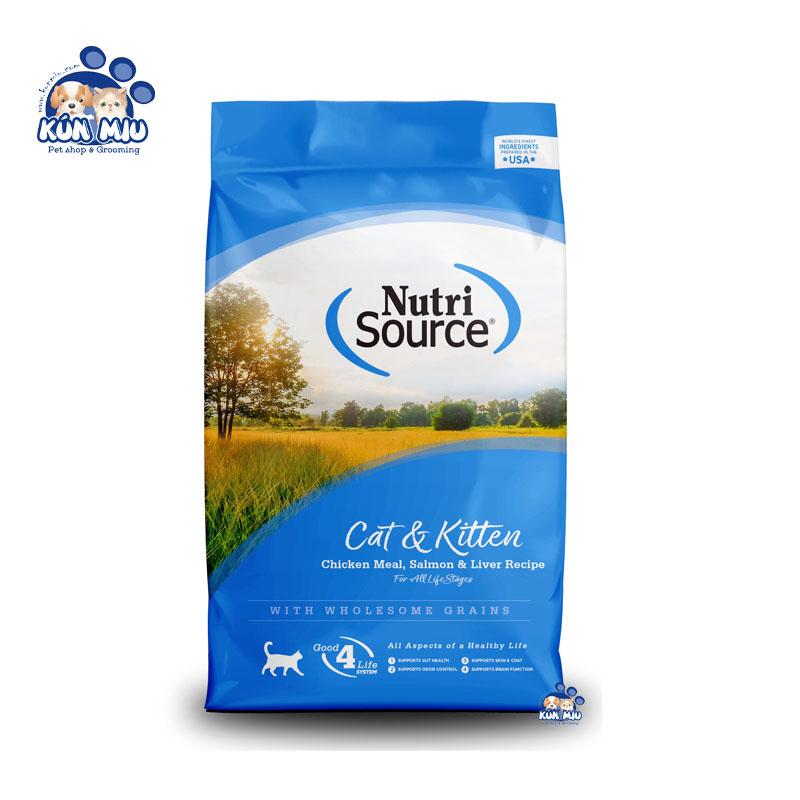 Thức ăn cho mèo Nutri Source vị gà và cá hồi