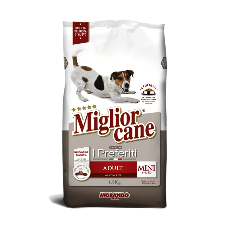 Thức ăn chó trưởng thành Miglior Cane I Preferiti Morando 1,5kg